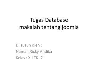 Tugas Database makalah tentang joomla