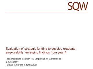 Evaluation of strategic funding to develop graduate employability: emerging findings from year 4