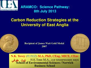 Carbon Reduction Strategies at the University of East Anglia