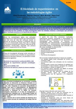 El Modelado de requerimientos  en  las metodologías Agiles