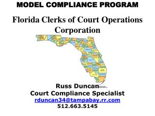 MODEL COMPLIANCE PROGRAM Florida Clerks of Court Operations Corporation
