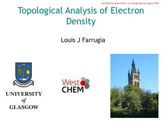 Topological Analysis of Electron Density