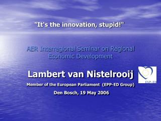 AER Interregional Seminar on Regional Economic Development
