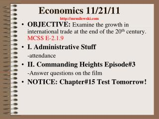 Economics 11/21/11  mrmilewski