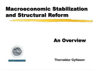 Macroeconomic Stabilization and Structural Reform