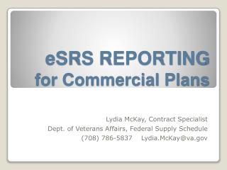 ESRS REPORTING for Commercial Plans