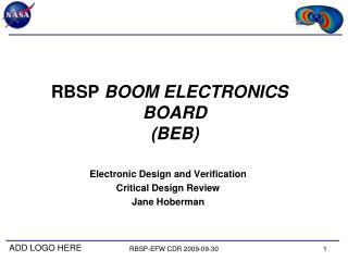 RBSP-EFW CDR 2009-09-30