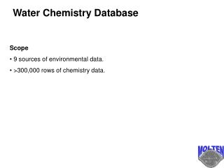 Water Chemistry Database