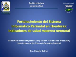 República de Honduras Secretaría de Salud