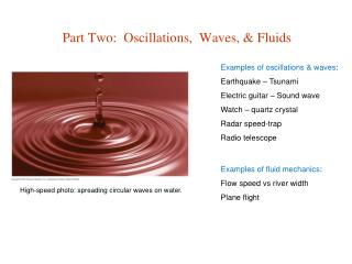 Part Two:  Oscillations,  Waves, & Fluids