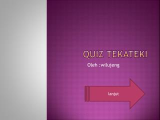 Quiz tekateki