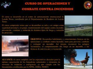 CURSO DE OPERACIONES Y COMBATE CONTRA INCENDIOS