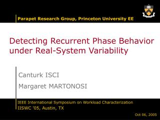 Detecting Recurrent Phase Behavior under Real-System Variability