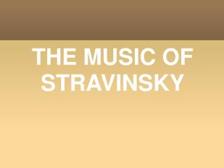 the key elements in igor stravinskys the rite of spring and the firebird As a composer stravinsky became famous internationally with three ballets, the firebird (1910) petrushka (1911) and the igor stravinsky was born in russia in 1882 and is one of the most important and this led immediately, to commissions for the other ballets petrushka and the rite of spring and his career as a.