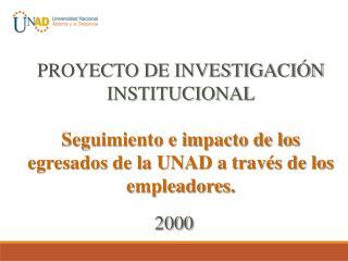 PROYECTO DE INVESTIGACIÓN INSTITUCIONAL
