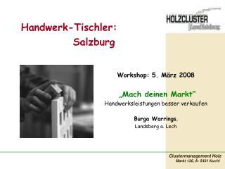 Handwerk-Tischler: Salzburg