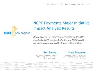 JULY 10, 2013 | NEPOOL MARKETS COMMITTEE