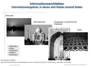 Informationsarchitektur Informationsangebote, in denen sich Nutzer zurecht finden