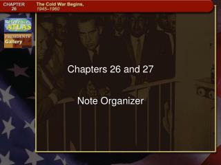Chapters 26 and 27