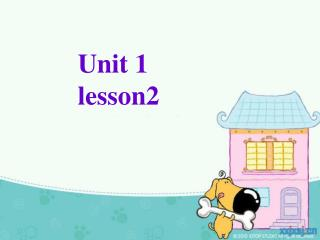 Unit 1 lesson2