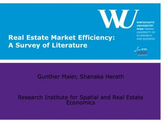 Real Estate Market Efficiency:  A Survey of Literature