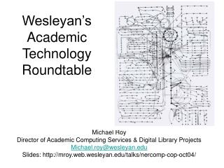 Wesleyan's Academic Technology Roundtable
