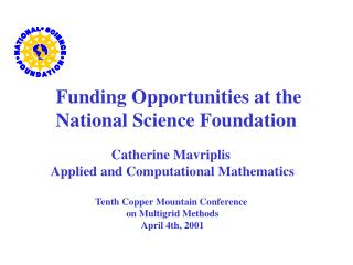 Funding Opportunities at the National Science Foundation
