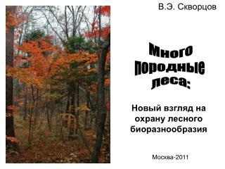 Новый взгляд на охрану лесного биоразнообразия