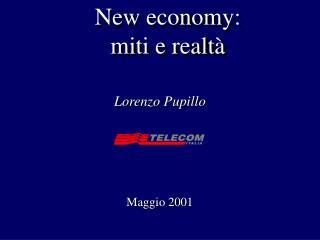 New economy: miti e realtà