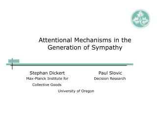 Attentional Mechanisms in the Generation of Sympathy