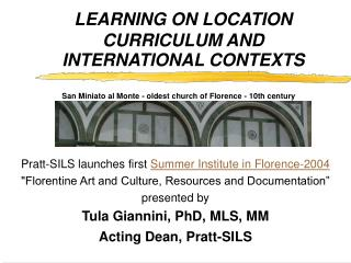 LEARNING ON LOCATION CURRICULUM AND INTERNATIONAL CONTEXTS