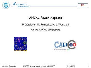 AHCAL Power Aspects