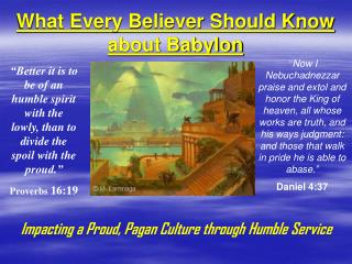 What Every Believer Should Know about Babylon