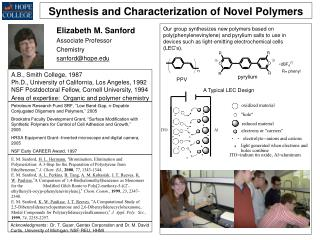 Synthesis and Characterization of Novel Polymers