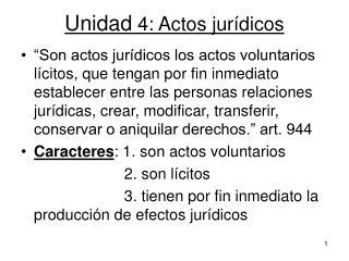 Unidad  4: Actos jurídicos