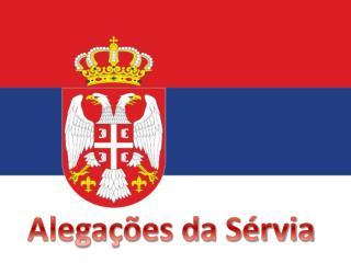 Alegações da Sérvia