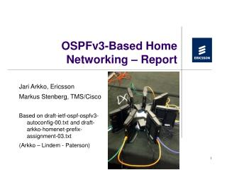 OSPFv3-Based Home Networking – Report