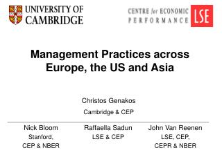 Management Practices across Europe, the US and Asia