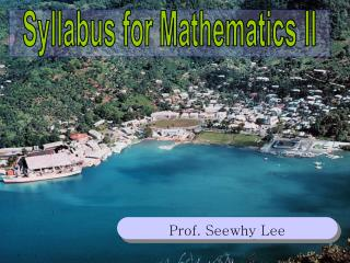 Prof. Seewhy Lee