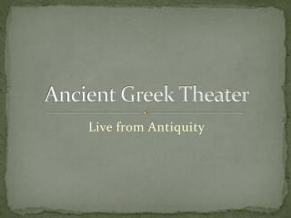 Ancient Greek Theater