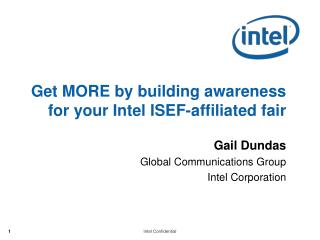 Get MORE by building awareness for your Intel ISEF-affiliated fair
