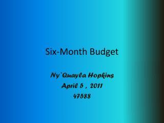 Six-Month Budget