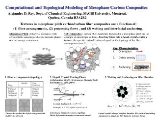 Computational and Topological Modeling of Mesophase Carbon Composites