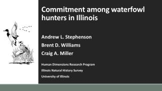 Commitment among waterfowl hunters in Illinois