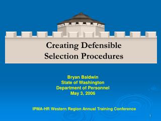 Bryan Baldwin State of Washington Department of Personnel May 3, 2006