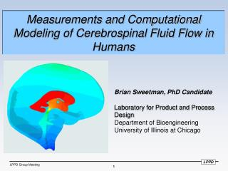 Measurements and Computational Modeling of Cerebrospinal Fluid Flow in Humans