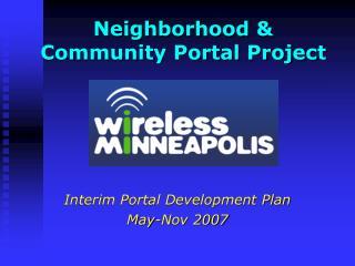 Neighborhood & Community Portal Project