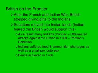 British on the Frontier