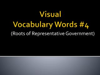 Visual  Vocabulary Words #4