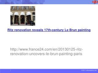 Ritz renovation reveals 17th-century Le  Brun  painting